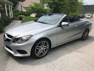 2014 Mercedes-Benz E350 Convertible (Silver with black top)